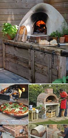 28 Outdoor Wood-fired Ovens Help to Jazz Up Your Backyard Time Außenbereich 28 Outdoor Wood-fired Ovens Help to Jazz Up Your Backyard Time Simple Outdoor Kitchen, Backyard Kitchen, Outdoor Kitchen Design, Outdoor Kitchens, Backyard House, Diy Pizza Oven, Pizza Oven Outdoor, Outdoor Cooking, Outdoor Entertaining