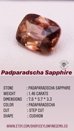Peach Sapphire, Ceylon Sapphire, Natural Sapphire, Sapphire Gemstone, Heat Treating, All Gems, Champagne Color, Peach Colors, Sri Lanka