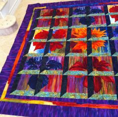 Camelot Cottons Fabric Daydreamers finished quilt