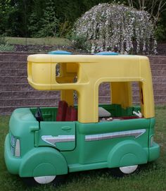 Rare Vintage Little Tikes Step 2 Five Foot RV Outdoor Camper. Toddler Fun, Toddler Toys, Kids Toys, Children's Toys, Little Tykes, Outdoor Toys, Outdoor Fun, Vintage Trailers, Childhood Toys
