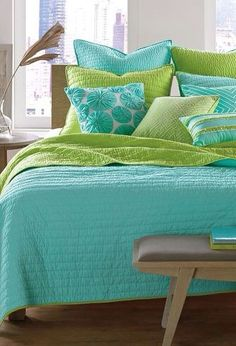 Bed Set I Got This Purple Teal And Lime Green Comforter D Rh Pinterest Com Lime  Green And Brown Bedding Lime Green Bedding Ensemble