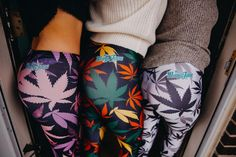 Happy hump day from the Miss Mary Jane girls! ‍♀️ Shop our variety of #cannabisprint leggings at MMJco.com! @sarakckane @colorado420girls #missmaryjaneco #weedleggings