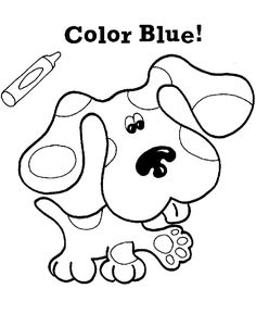 Pictures Cute Dog Blues Clues Coloring Pages