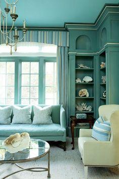 Aqua, maybe I'll paint the ceiling aqua.