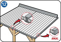 Do you want to build your own veranda? Read the step-by-step instructions here for how to build a veranda in your garden. Metal Pergola, Pergola With Roof, Wooden Pergola, Covered Pergola, Outdoor Pergola, Patio Roof, Pergola Kits, Pergola Lighting, Small Garden Arbour