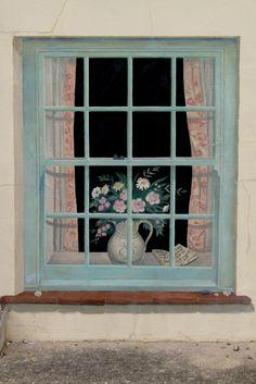 trompe l oeil exterior window norfolk