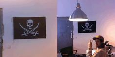 thepirateflag:    at Loopcam office ,  Berlin, Germany / 루프캠, 베를린, Germany   by Cap'n @Torrauden #pirate