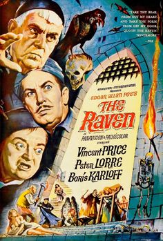Movie poster, The Raven 1963, artist unknown