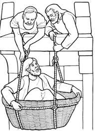 paul in a basket coloring pages
