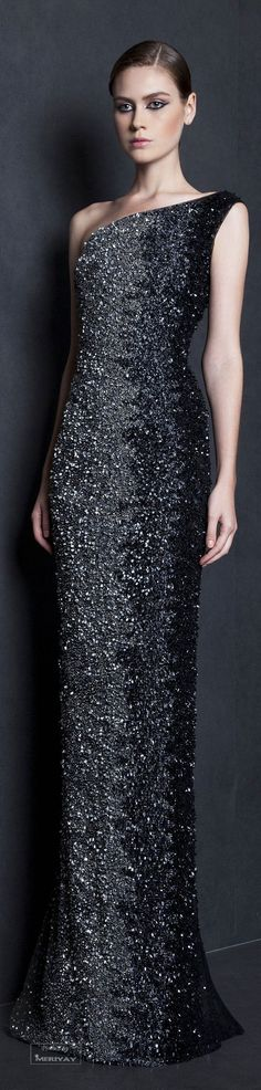 The Millionairess of Pennsylvania: Tony Ward Black Evening Gown Spring-summer 2015.