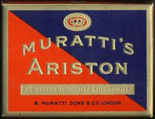 SWITZERLAND MURATTI'S ARISTON VINTAGE 1940'S TOBACCO 20 CIGARETTE PACK BOX EMPTY