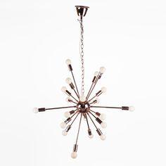 Modern Orgasma Sputnik Chandelier - Rose Gold