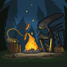 If Xenomorphs from 'Alien' became adorable instead of terrifying