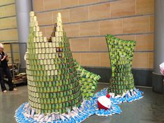 2013 Cincinnati CANstruction Buildout at Weston Art Gallery at the Aronoff Center and @Freestore Foodbank returning 2014 March 5th - 23rd