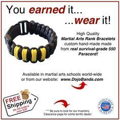 550 Paracord Bracelets for Martial Artists
