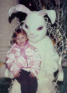 These Creepy And Disturbing Vintage Easter Bunny Photos That Will Make Your Skin Crawl