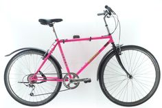 NEUBAU Nakamura Pink The NEUBAU - serial production recycled bike ever (as far as we know). Crafted in Vienna by reanimated-bikes Westbahnstr. Shops, Vienna Austria, This Is Us, Bicycle, Crafts, Vintage, New Construction, Repurpose, Tents