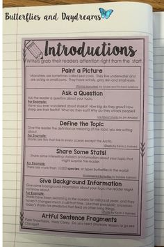 this is cool but i think a touch too much for th graders middle  informational expository introductions