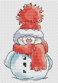 ru / Photo # 18 - New Year - BlueBelle Cross Stitch Christmas Ornaments, Xmas Cross Stitch, Cross Stitch Cards, Christmas Cross, Counted Cross Stitch Patterns, Cross Stitch Designs, Cross Stitching, Cross Stitch Embroidery, Embroidery Patterns