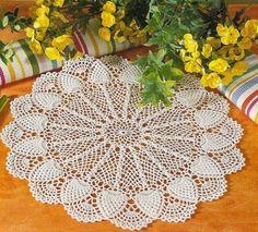 Hoje tem Flor !!!: Centrinho de mesa em crochê com gráfico