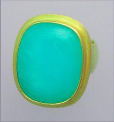 Peruvian opal ring in 22k by Sarah Nehama