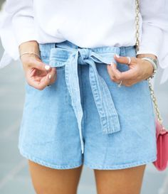 Summer Fashion//Summer Outfit//Denim//Bow Shorts