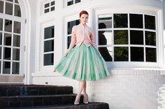 All vintage on Sea of Shoes-50s skirt and cashmere sweater