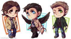 Supernatural Team Free Will Fan Art