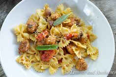 Farfalle With Sweet Chicken Sausage-2-2