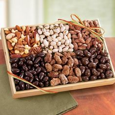 Savory, Sweet and Chocolate Deluxe Nut Tray - http://goodvibeorganics.com/savory-sweet-and-chocolate-deluxe-nut-tray/
