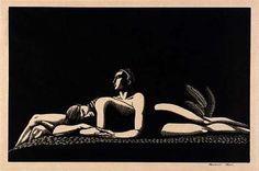 """Rockwell Kent, """"The Lovers"""" 1928   wood engraving on paper"""