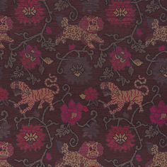 62683 Khotan Weave Aubergine by Schumacher Fabric Fabric Remnants, Woven Fabric, Living Room Plan, Tibetan Rugs, Luxury Flooring, Ethnic Chic, Pierre Frey, Concept Home, Schumacher