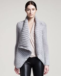 Augmented Wool Cardigan by Helmut Lang at Neiman Marcus.