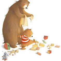 Children's Book Illustration, Digital Illustration, Funny Paintings, Bear Art, Visual Development, Animal Drawings, Illustrators, Funny Animals, Whimsical