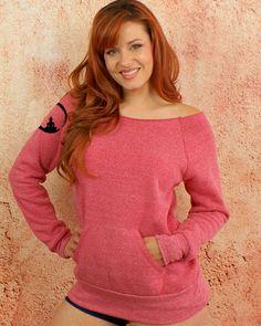 Enlightened Buddha Symbol - Pink Fuchsia Sexy Feminine Girly Off Shoulder Long Sleeve Boat Neck Sweatshirt $39.50 USD  #Sweter #goddessgeardesigns #yogagear www.etsy.com/il-en/shop/GoddessGearDesigns