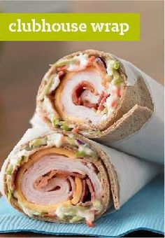 Clubhouse Wrap -- The classic turkey and bacon club sandwich gets all wrapped up in a whole wheat tortilla with crunchy broccoli slaw. Bonus: It's ready to enjoy in just 10 minutes flat.