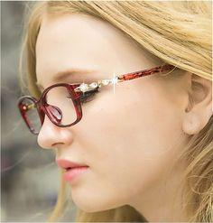 BOYEDA de Diamantes de La Moda Ronda Gafas Retro Marco de Anteojos Mujeres Gafas para Mujer Gafas Ópticas Gafas de Prescripción