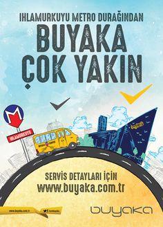 BUYAKA METRO DUYURU POSTERI Graphic Design, Poster, Billboard, Visual Communication