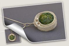 silk, pearls, wire pendant - marra jewellery on Behance