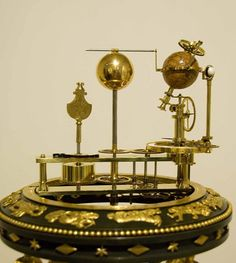 French Empire clcok with orrery and music box