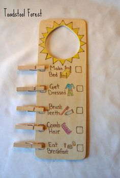 Morning Evening Chore Chart Reversible by TheToadstoolForest