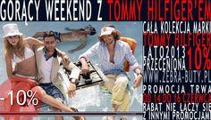 Gorący weekend z Tommy Hilfigerem !!! Promocja!!! Buty damskie, buty meskie. Cała kolekcja marki Tommy Hilfiger Lato 2013 przeceniona -10% Promocja trawa od 14-06-2013 do 16-06-2013. Rabat nie łączy się z innymi promocjami.