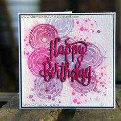 Happy Birthday thinlit- Swirly Bird- Stampin' Up!