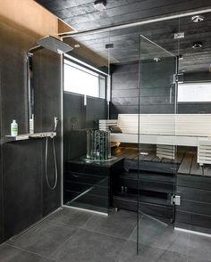 Sauna Shower, Interior Inspiration, Divider, Bathtub, Bathroom, Instagram Posts, Furniture, Seaside, Home Decor