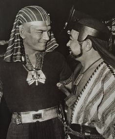 "Yul Brynner and Edward G. Robinson -- ""The Ten Commandments"""