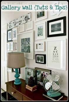 from Gardners 2 Bergers: Gallery Wall + Tutes & Tips The absolute easiest way to hang a wall gallery Inspiration Wand, Photowall Ideas, Home And Deco, Picture Frames, Picture Walls, Photo Walls, Sweet Home, House Design, Interior Design