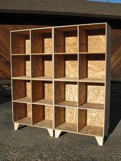 modular osb bookshelf cubby storage unfinished two by by modosb