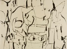 Willem de Kooning, Black and White Abstraction, ca 1950. Museum Works of Art Fund. Courtesy of The Museum of Art, Rhode Island School of Design.