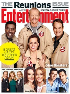 Bill Murray, Dan Aykroyd, Ernie Hudson, and Sigourney Weaver pose for 'Ghostbusters' reunion magazine cover and talk about memories on the 'Today' show. Bill Murray, Ghostbusters Film, Original Ghostbusters, Entertainment Weekly, Mean Girls Reunion, The Reunion, Die Geisterjäger, Trailers, Ernie Hudson