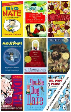 10 Books for 10-Year-Old Boys --> great list! definitely must ...